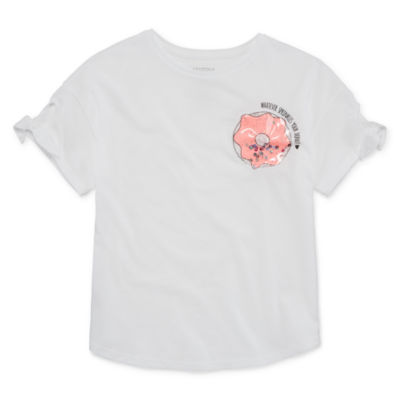 Arizona Tie Sleeve Graphic Top - Girls' 4-16 & Plus
