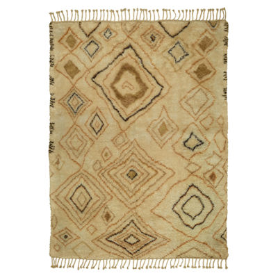 Moroccan Abstract Diamond Rectangular Rug