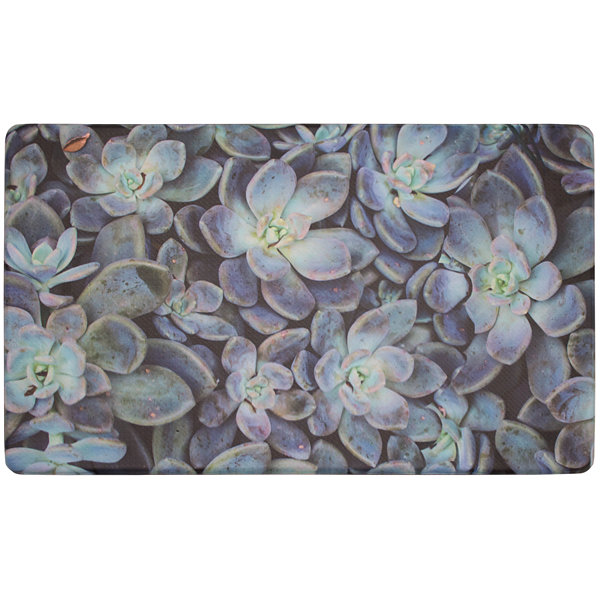 Chef Gear Ethereal Succulents Gelness Kitchen Mat