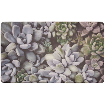 Chef Gear Blossom Succulents Gelness Kitchen Mat