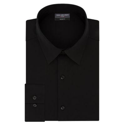 Van Heusen Flex 3 Slim 4 Way Stretch Long Sleeve Twill Dress Shirt - Fitted