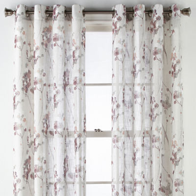 JCPenney Home Caspian Grommet- Top Curtain Panel
