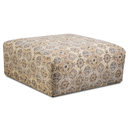 Fabric Possibilities Cocktail Ottoman and Pillow Set