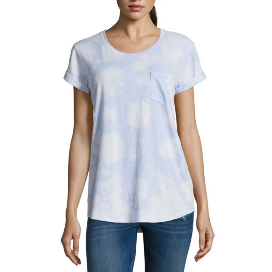 a.n.a Boyfriend Spray Wash Tee - Tall