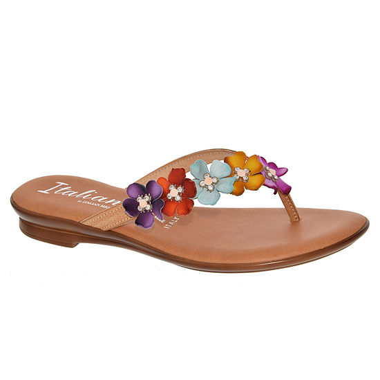 Italiana By Italian Shoemakers Womens Sheila Flip-Flops