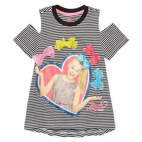 c2aac264fce Jojo Siwa Crew Neck Short Sleeve Tunic Top - Big Kid Girls - JCPenney