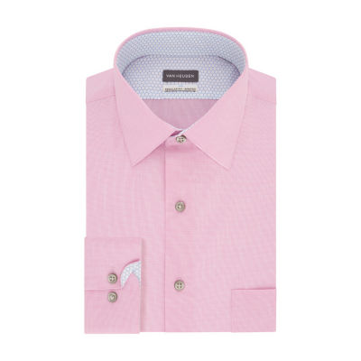Van Heusen Air Big And Tall Mens Spread Collar Long Sleeve Wrinkle Free Stretch Cooling Dress Shirt