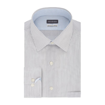 Van Heusen Air Mens point Collar Long Sleeve Wrinkle Free Stretch Cooling Dress Shirt - Big And Tall