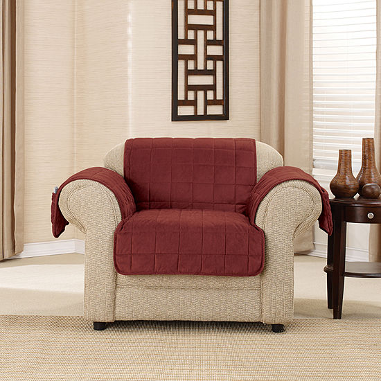 Sure Fit Deep Pile Velvet Furniture Protector Chair Protector