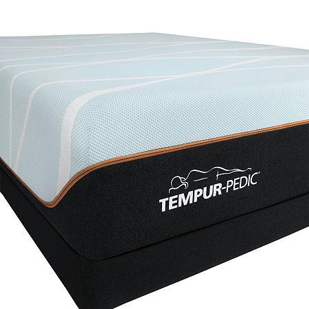 TEMPUR-Pedic LuxeBreeze Firm - Mattress + Box Spring, Queen, White