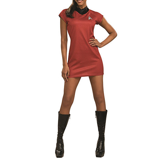 Star Trek Movie Deluxe Red Dress Adult Dress Up Costume Costume