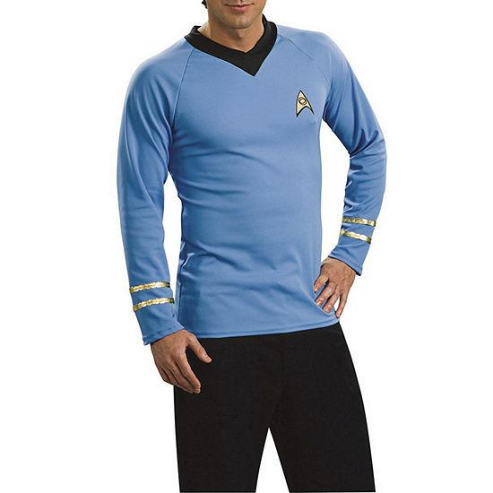 Star Trek Mens Classic Deluxe Blue Star Trek Dress Up Costume