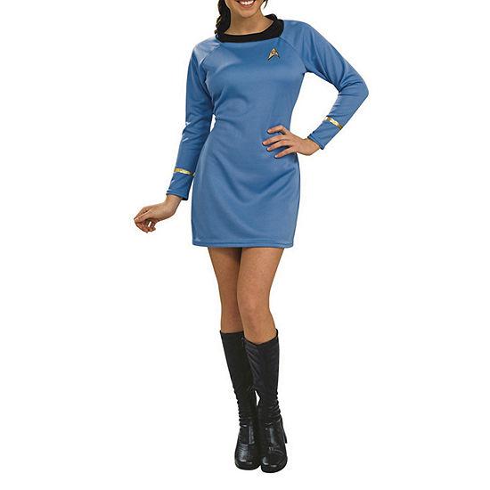 Star Trek Classic Deluxe Blue Dress Adult Dress Up Costume