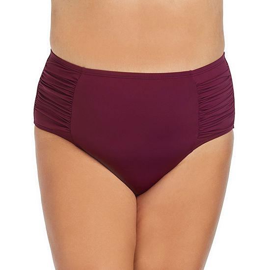 Ambrielle High Waist Swimsuit Bottom Plus