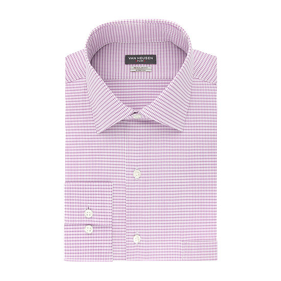 Van Heusen Mens Spread Collar Long Sleeve Stretch Dress Shirt