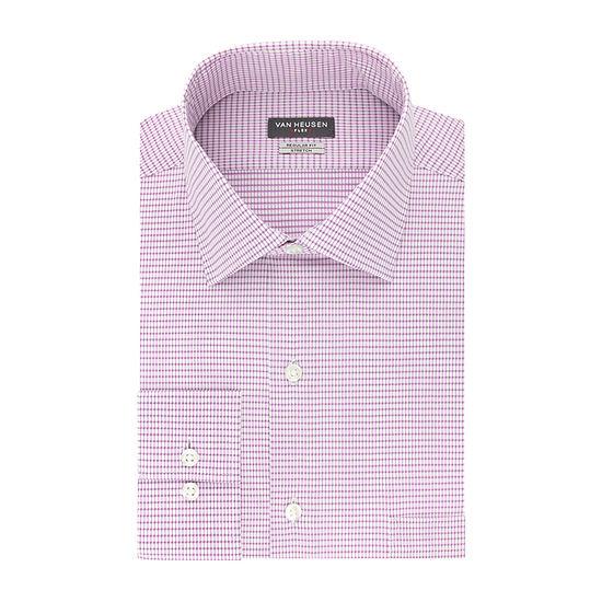 Van Heusen Flex Collar Mens Spread Collar Long Sleeve Stretch Dress Shirt