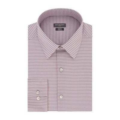 Van Heusen Mens Point Collar Long Sleeve Stretch Dress Shirt - Slim