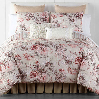 JCPenney Home Camilla 4-pc. Floral Lightweight Reversible Comforter Set