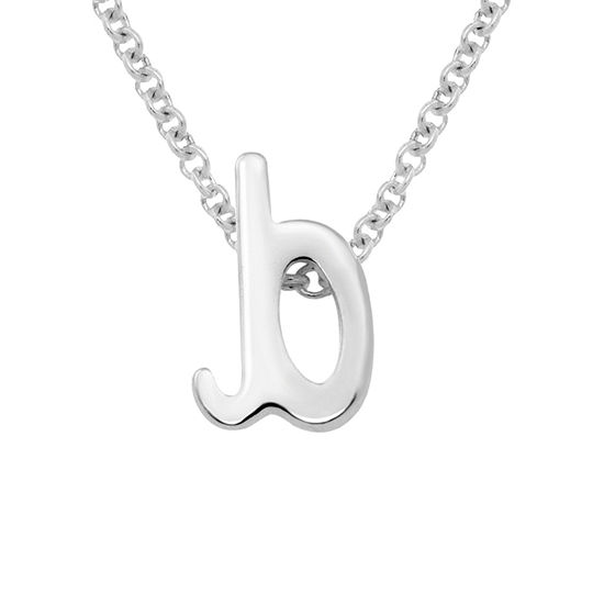 Itsy Bitsy Sterling Silver 17 Inch Cable Pendant Necklace