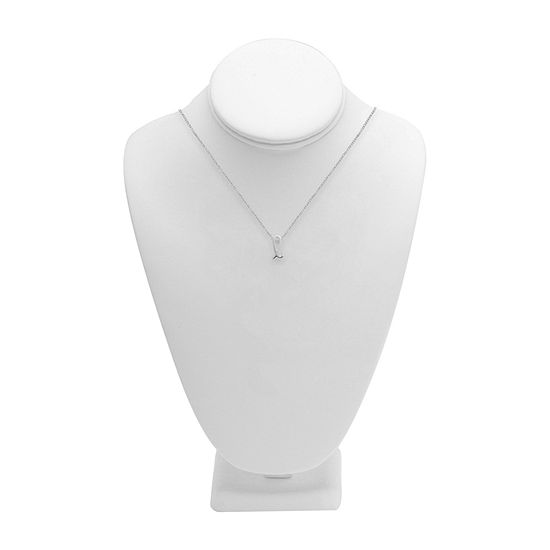 Itsy Bitsy Initial L Womens Sterling Silver Pendant Necklace