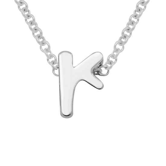Itsy Bitsy Initial R Womens Sterling Silver Pendant Necklace