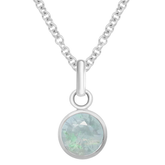 ce1c17c46596 Itsy Bitsy October Birthstone Made With Swarovski Crystal Womens White  Crystal Sterling Silver Pendant Necklace - JCPenney
