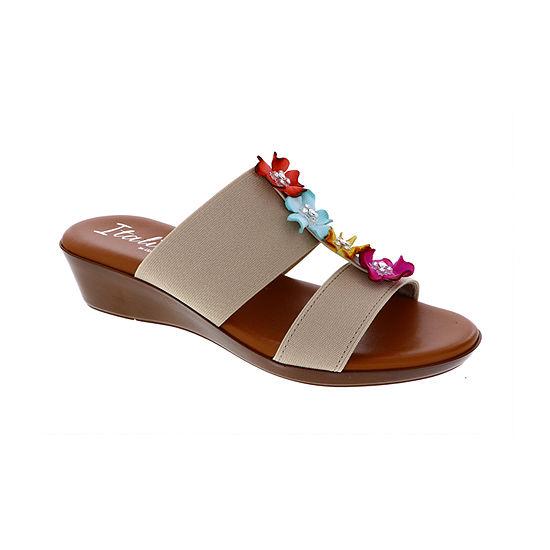 Italiana By Italian Shoemakers Womens Jessa Wedge Sandals