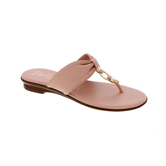 Italiana By Italian Shoemakers Womens Amora Flat Sandals