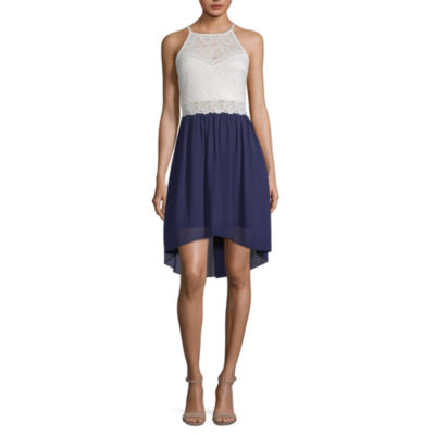 by&by Sleeveless Fit & Flare Dress-Juniors