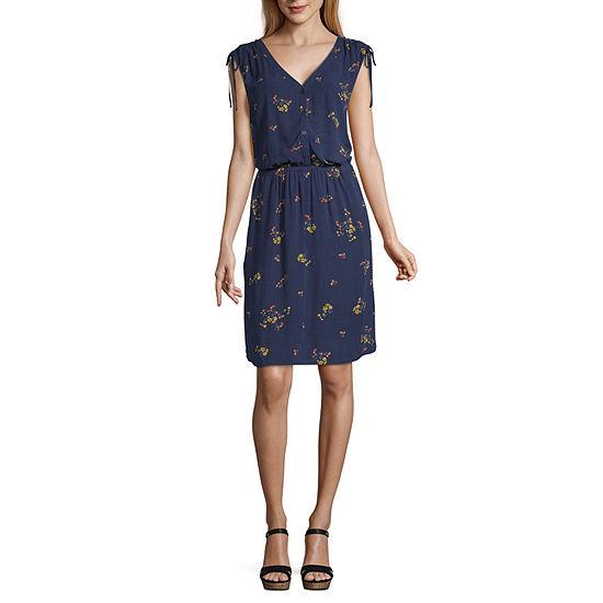 a.n.a Sleeveless Midi Floral Shift Dress
