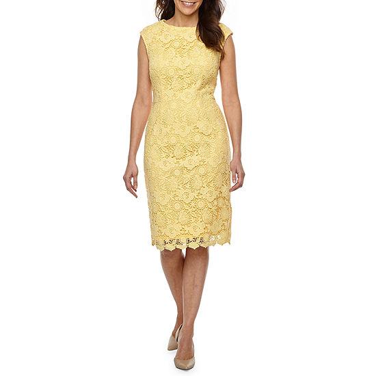 9351bdf97d Liz Claiborne Sleeveless Floral Lace Sheath Dress - JCPenney
