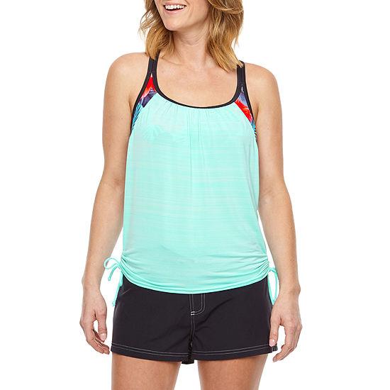 a09959fdb6241 Zeroxposur Tie Dye Blouson Swimsuit Top or Swimsuit Bottom - JCPenney