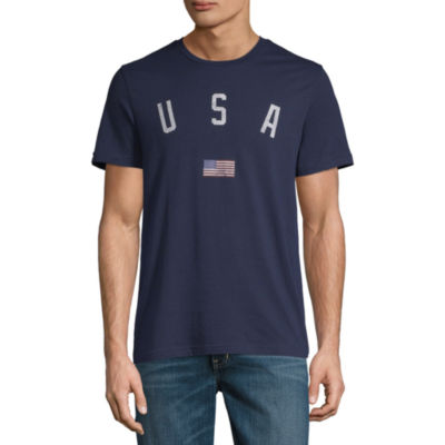 City Streets Mens Crew Neck Short Sleeve Americana Graphic T-Shirt