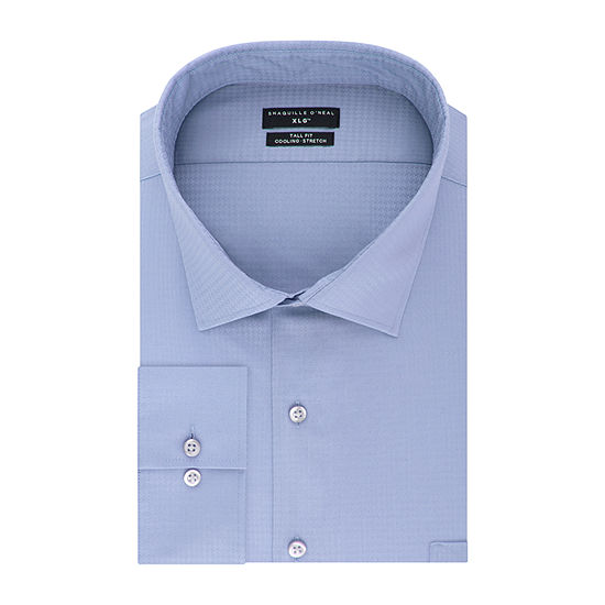 Shaquille Oneal Xlg Flex Collar Cooling Stretch Big And Tall Long Sleeve Broadcloth Dress Shirt