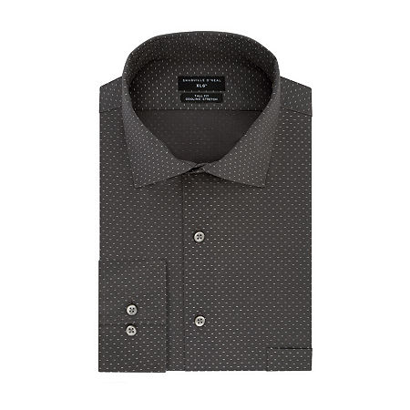 Shaquille O'Neal XLG Mens Long Sleeve Dress Shirt, 16 36-37, Gray