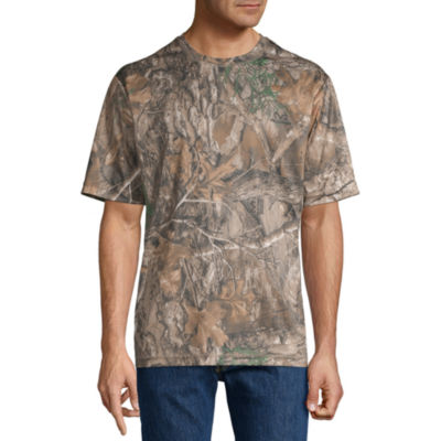 Realtree Mens Crew Neck Short Sleeve Moisture Wicking T-Shirt