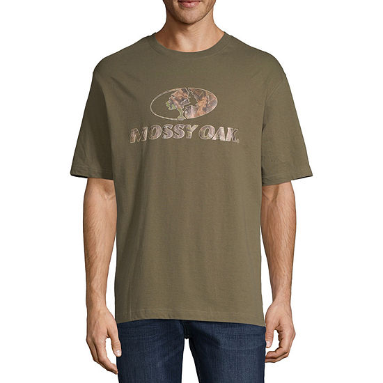 Mossy Oak Mens Crew Neck Short Sleeve T-Shirt