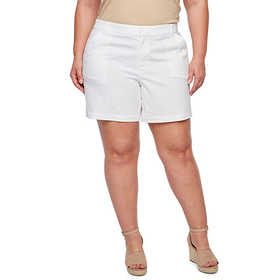 "a.n.a Womens 7"" Inseam Twill Short - Plus"