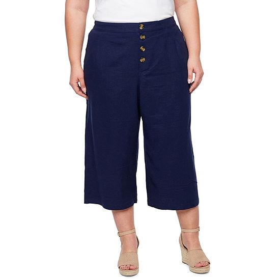 a..n.a Front Pleat Crop Pant - Plus