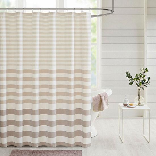 Madison Park Donna Stripe Blended Yarn Dyed Shower Curtain