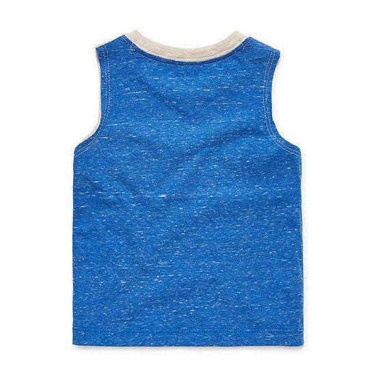 Okie Dokie - Baby Boys Crew Neck Sleeveless Muscle T-Shirt