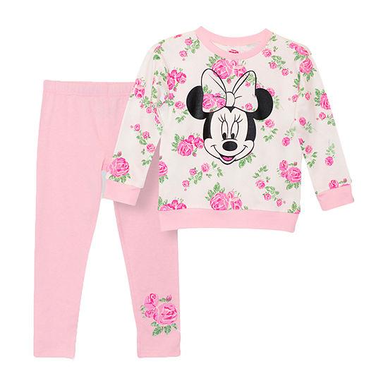 Disney-Toddler Girls 2-pc. Minnie Mouse Legging Set