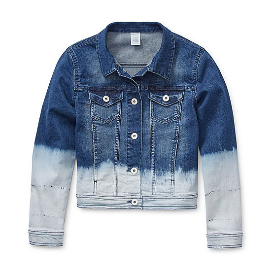 Arizona Little & Big Girls Denim Jacket