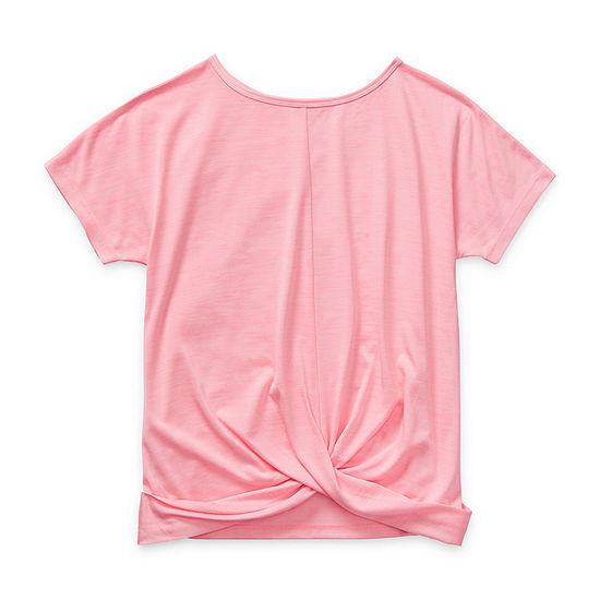 Xersion Reversible Girls Crew Neck Short Sleeve T-Shirt-Big Kid