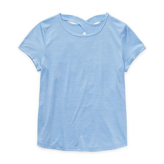 Xersion Little & Big Girls Short Sleeve T-Shirt