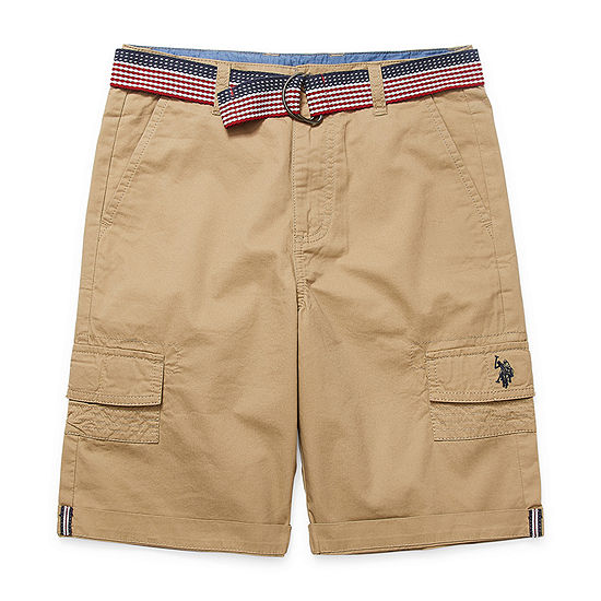 Us Polo Assn. Big Kid Boys Chino Short