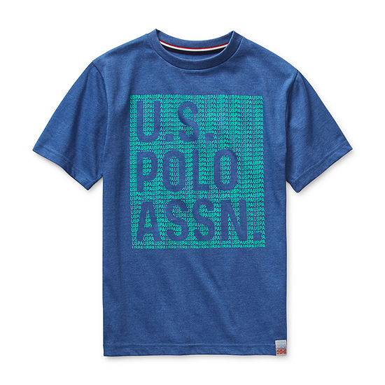 Us Polo Assn. - Big Kid Boys Embroidered Crew Neck Short Sleeve Graphic T-Shirt