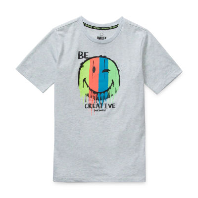 Smiley World Little & Big Boys Short Sleeve T-Shirt