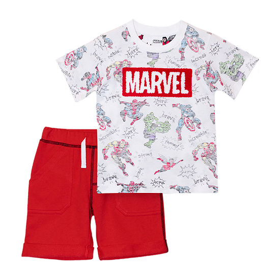 Marvel Toddler Boys 2-pc. Marvel Short Set
