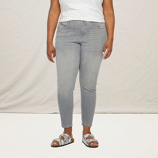 a.n.a-Plus Womens Mid Rise Skinny Jean